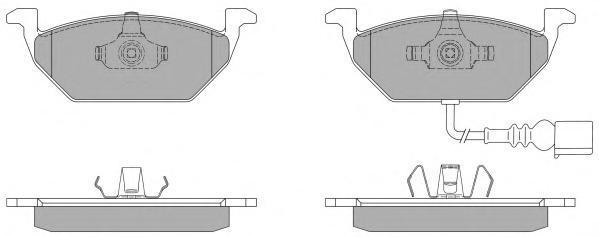 Колодки тормозные дисковые Fremax, комплект. FBP-1070-01FBP-1070-01
