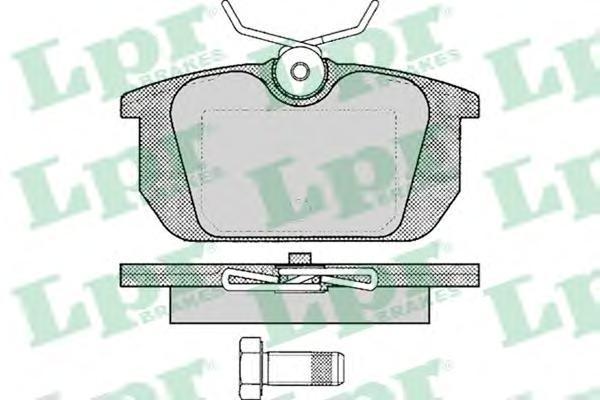 Колодки тормозные дисковые LPR / AP. 05P10105P101