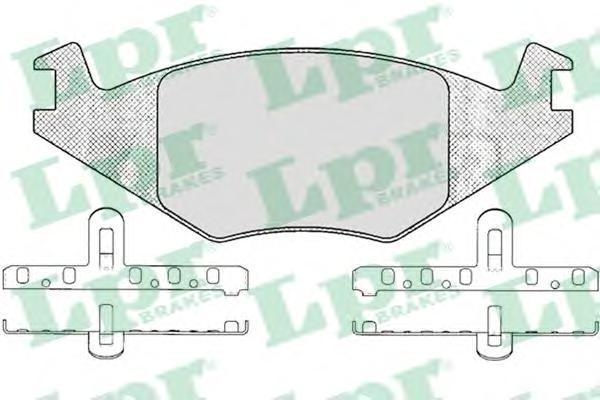 Колодки тормозные дисковые LPR / AP. 05P22305P223