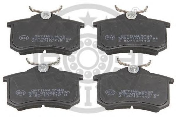 Колодки тормозные дисковые Optimal. 95489548