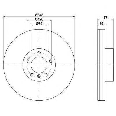 Диск тормозной Behr-Hella Pro. 8DD355119-3318DD355119-331