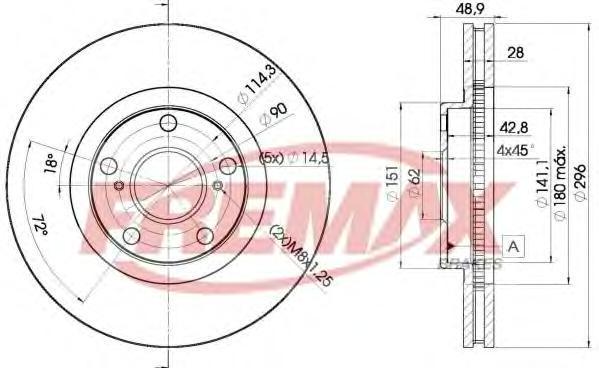Диск тормозной Fremax, 2 шт. BD-2820BD-2820