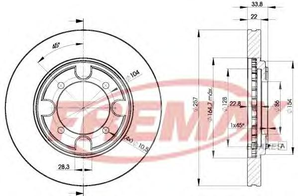 Диск тормозной Fremax, 2 шт. BD-2830BD-2830