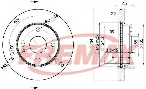 Диск тормозной Fremax, 2 шт. BD-3255BD-3255