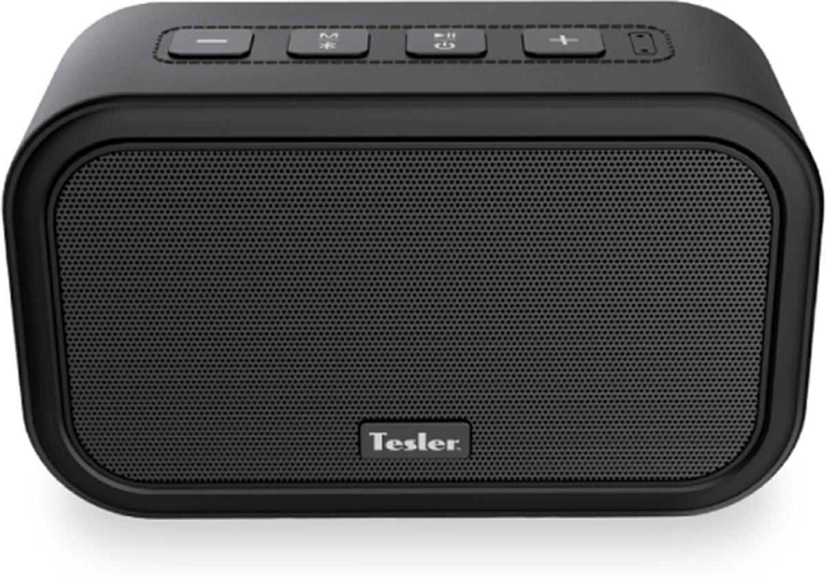 Tesler PSS-444, Black портативная акустическая система4627116923076Хороший звук, стильный дизайн, компактность, автономность, чёткие и мощные басы - все эти качества есть в представленной модели. Отлично работает Bluetooth на расстоянии до 10 метров.