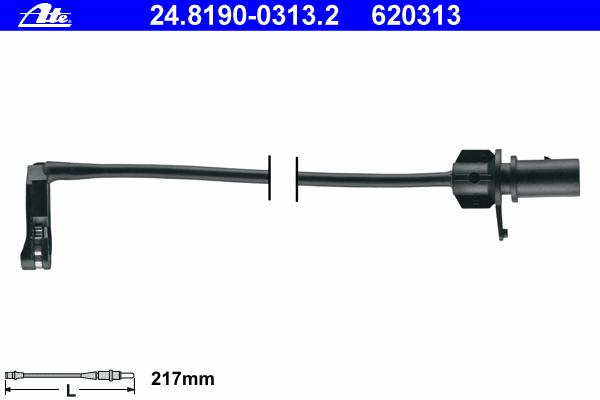 Датчик износа тормозных колодок Ate, комплект 2 шт. 24.8190-0313.224.8190-0313.2