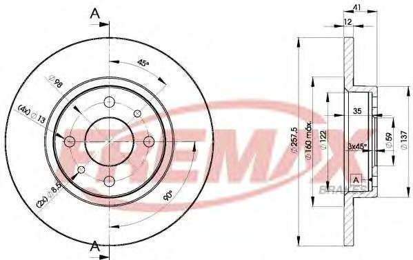 Диск тормозной Fremax, 2 шт. BD-3466BD-3466