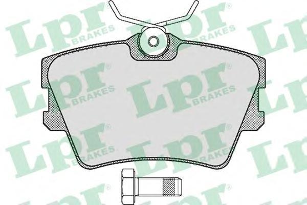 Колодки тормозные дисковые LPR / AP. 05P61605P616