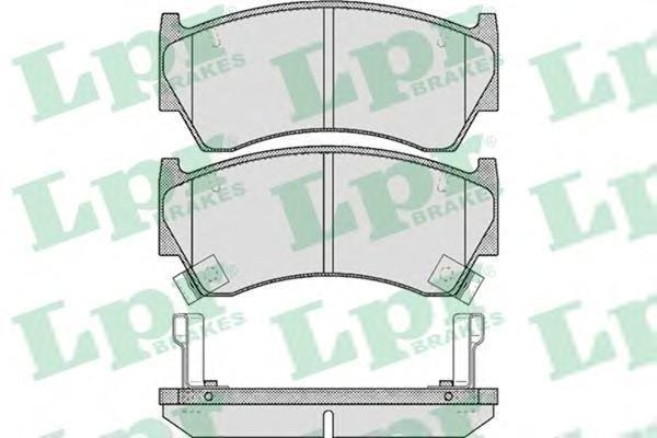 Колодки тормозные дисковые LPR / AP. 05P61705P617