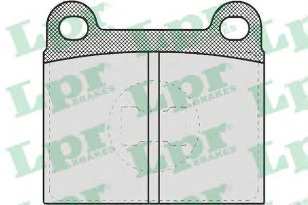 Колодки тормозные дисковые LPR / AP. 05P65905P659