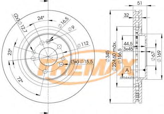 Диск тормозной Fremax, 2 шт. BD-3504BD-3504
