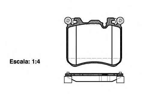 Колодки тормозные дисковые Remsa, комплект. 141300141300