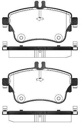 Колодки тормозные дисковые Remsa, комплект. 148708148708