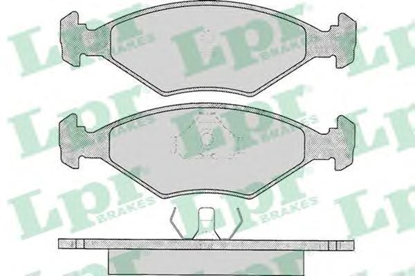 Колодки тормозные дисковые LPR / AP, комплект. 05P01605P016