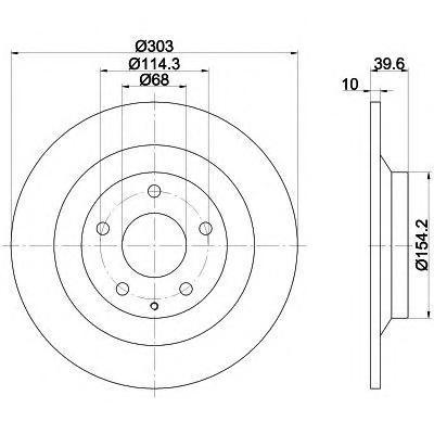 Диск тормозной Behr-Hella Pro, 2 шт. 8DD355118-5418DD355118-541