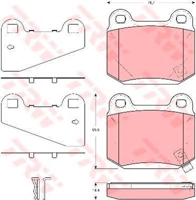 Колодки тормозные дисковые TRW. GDB3350GDB3350