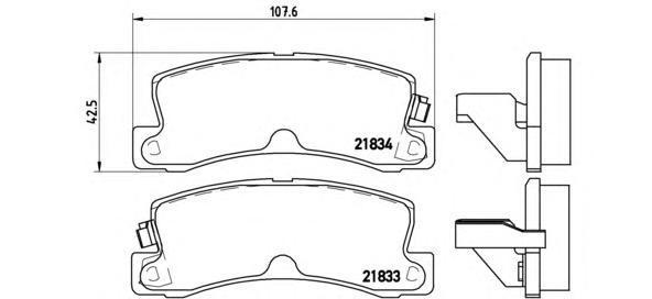 Колодки тормозные дисковые Brembo, RE, комплект. P83015P83015
