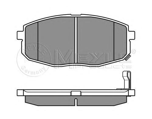 Колодки тормозные дисковые Meyle, комплект. 0252396617/W0252396617/W