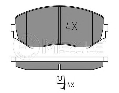 Колодки тормозные дисковые Meyle, комплект. 0252434617/W0252434617/W