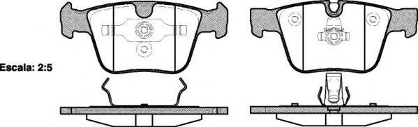 Колодки тормозные дисковые Remsa, комплект. 121600121600