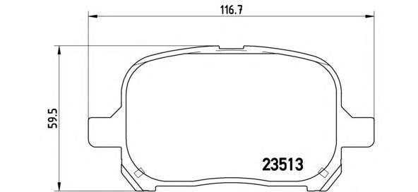 Колодки тормозные дисковые Brembo, передние. P83040P83040