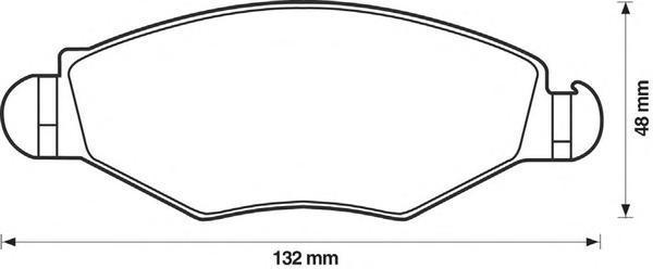 Колодки тормозные дисковые Jurid, PSA, комплект. 571930J571930J
