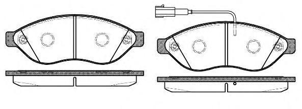 Колодки тормозные дисковые Remsa, комплект. 123712123712