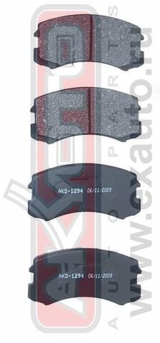 Колодки тормозные дисковые AKYOTO, передние. AKD-1294AKD-1294
