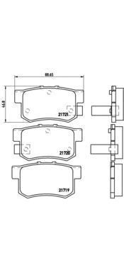 Колодки тормозные дисковые Brembo, RE, комплект. P28022P28022