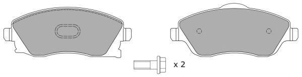 Колодки тормозные дисковые Fremax, комплект. FBP-1208FBP-1208
