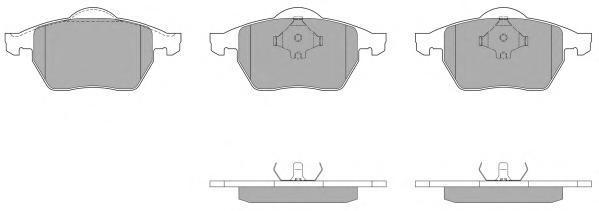 Колодки тормозные дисковые Fremax, комплект. FBP-1513-01FBP-1513-01