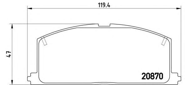Колодки тормозные дисковые Brembo, передние. P83011P83011