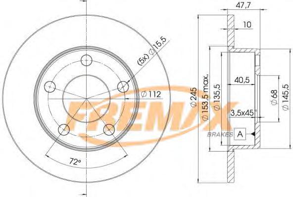 Диск тормозной Fremax, 2 шт. BD-2746BD-2746