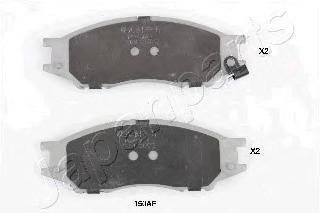 Колодки тормозные дисковые Japanparts, передние. PA-150AFPA-150AF