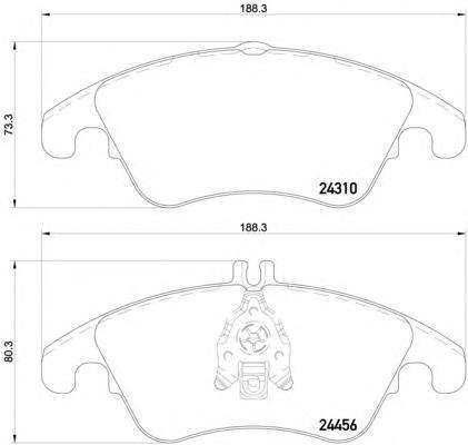 Колодки тормозные дисковые Textar, комплект. 24310012431001