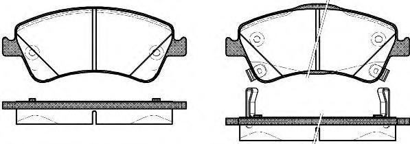 Колодки тормозные дисковые Remsa, комплект. 134102134102
