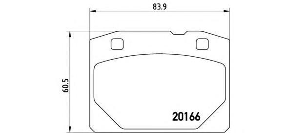 Колодки тормозные дисковые Brembo, передние. P41001P41001