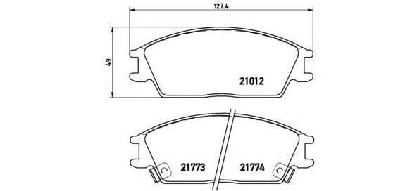 Колодки тормозные дисковые Brembo, передние. P30024P30024