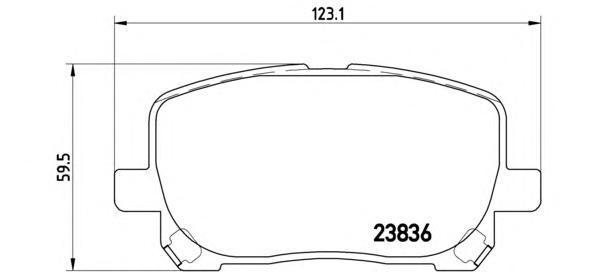 Колодки тормозные дисковые Brembo, FR, комплект. P83061P83061
