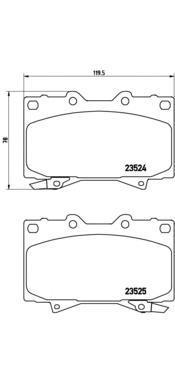 Колодки тормозные дисковые Brembo, FR, комплект. P83048P83048