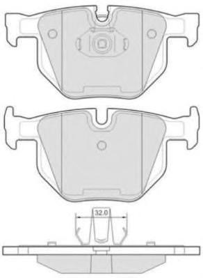 Колодки тормозные дисковые Fremax, комплект. FBP-1667FBP-1667