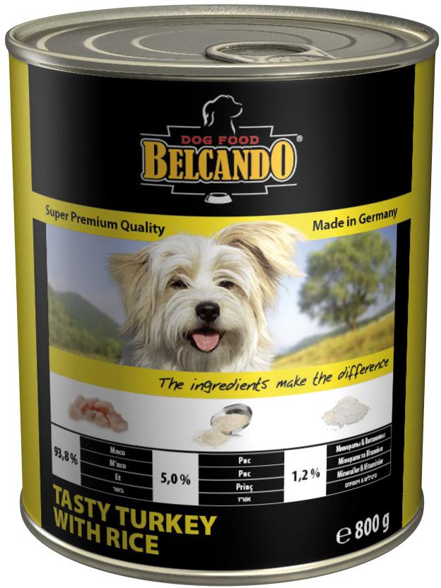 Консервы для собак Belcando индейка с рисом, 800 г513535При изготовлении консервированного корма Belcando используются только настоящие куски мяса, получаемые от проверенных немецких фермерских хозяйств. Рецептура содержит ценное масло чертополоха, богатое полиненасыщенными жирными кислотами. Корм не содержит зерна, изготавливается без применения ароматизаторов, красителей и консервантов.Состав: мясо и мясные субпродукты (93,8% мясо птицы, в т.ч. мин. 70% индейки), рис (мин. 5%), минералы, витаминыАнализ: протеин 10,5%, содержание жиров 4,7%, сырая зола 2,0%, клетчатка 0,3%, влага 78,0%, кальций 0,40%, фосфор 0,16%; пищевые добавки (на кг) -витамины: A 2.000 ME, D3 200 ME, E 25 мг; микроэлементы: Zn 0,8 мг, Mn 0,3 мг, J 0,1 мг.