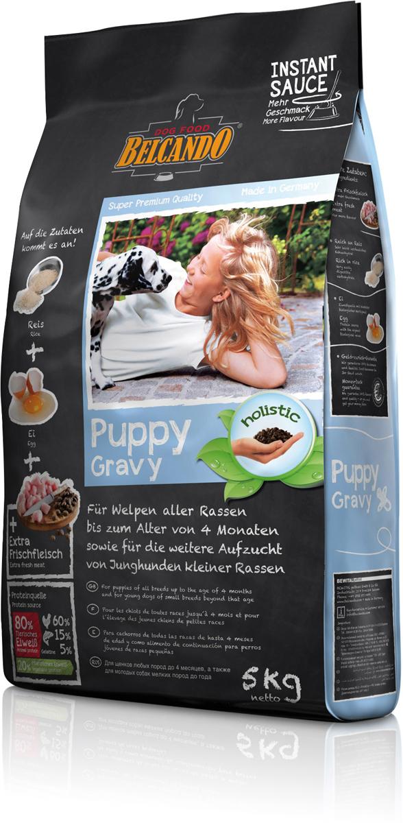 Корм сухой Belcando Puppy Gravy для щенков всех пород до 4 месяцев, для щенков мелких пород до года, 5 кг мясо птицы охлажденное оптом