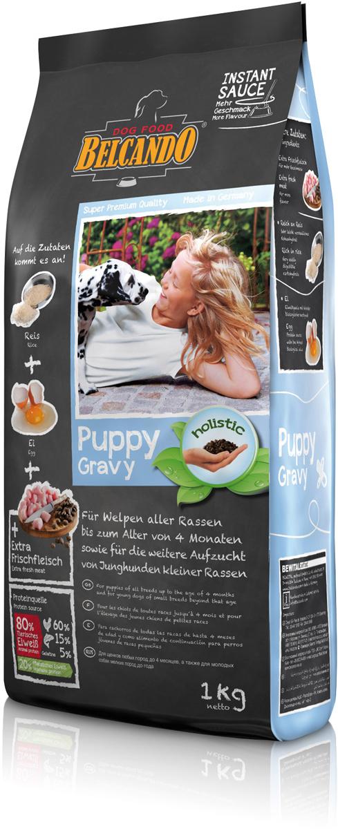 Корм сухой Belcando Puppy Gravy для щенков всех пород до 4 месяцев, для щенков мелких пород до года, 1 кг553005Благодаря тщательно отобранным исходным компонентам с высоким содержанием птицы, риса и яиц корм Belcando Puppy Gravy особенно хорошо переваривается и легко усваивается. Большое количество энергии для здорового роста и важные минеральные вещества для образования костей обеспечивают оптимальное развитие молодых собак. При смешивании с тёплой водой получается вкусный соус: пробуждает аппетит к твёрдой пище и способствует приёму корма при отнятии щенков от матери. Привлекательное лакомство и в последующий период! ProVital - усиливает защитные силы организма собаки благодаря содержанию компонентов клеточных стенок (бета-гликанов) из натуральных дрожжей. ProAgil - благодаря гидролизату желатина/коллагена способствует формированию суставных хрящей и служит для профилактики заболеваний в суставах. С богатым содержанием риса - очень легко усваиваемый углевод. Яйцо -источник белка с высочайшей биологической ценностью. Изготовлено без применения пшеницы и глютенсодержащих злаков, сои, молочных продуктов!Состав: свежее мясо птицы (30 %); рис (23 %); белок домашней птицы, пониженной зольности, высушенный (19 %); кукуруза; мука сельди (6 %); жир домашней птицы; растительные масла (пальмовое, кокосовое); высушенное яйцо (2,5 %); желатин, гидролизированный (2,5 %); пивные дрожжи, сушёные (2,5 %); цареградский стручок, высушенный; сухой жом, обессахаренный; дикальций фосфат; гидролизат печени птицы; льняное семя; cсемена чии; поваренная соль; калий хлористый. Протеин - 29%, жир - 17%. Источники белка: животный белок - 80% (мясо птицы - 60%, рыба - 15%, желатин - 5%), растительный белок - 20%.