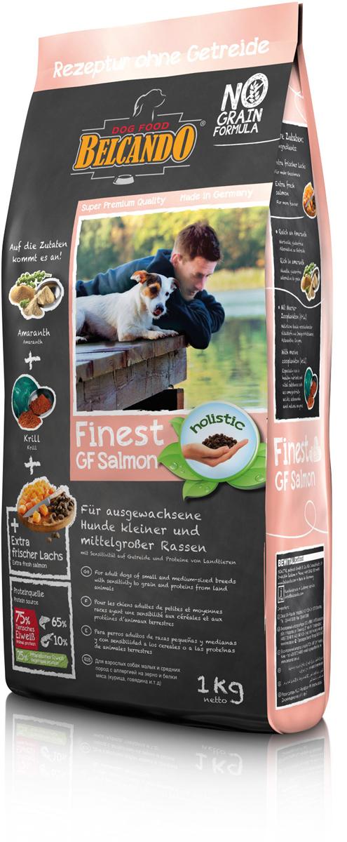 Сухой корм Belcando Finest GF Lamb для собак малых и средних пород, беззерновой, лосось, 1 кг554705Специальный состав для особых собак. Этот беззлаковый корм также идеальное решение для животных с аллергией и пищевой непереносимостью, так как в нём только рыба -единственный источник животного белка. Даже самые привередливые собаки полюбят этот корм с высоким содержанием лосося. Очищенное лососевое масло и экологически чистый антарктический криль содержат Омега-3 жирные кислоты в легко доступной для усваивания форме.Богатое содержание амаранта -питательная альтернатива злакам, без содержания глютена. С морским зоопланктоном (крилем) -обогащён важными компонентами, такими как жирные кислоты Омега-3, астаксантин и натуральные энзимы. ProVital -усиливает защитные силы организма собаки благодаря содержанию компонентов клеточных стенок (бета-гликанов) из натуральных дрожжей. Изготовлено без применения зерна, мясных белков (курица, говядина и.т.д.), сои, молочных продуктов.Состав: свежий лосось (30 %); амарант (16,5 %); картофельный крахмал; гороховая мука; мука лосося (8,5 %); мука сельди (7,5 %); морской зоопланктон, измельчённый (криль, 4,5 %); рыбий жир (семейство лососевые) (2,5 %); растительные масла (пальмовое, кокосовое); мука из виноградной косточки; пивные дрожжи, сушёные (2,5 %); цареградский стручок, высушенный; лосось, гидролизированный; cсемена чии; сухой жом, обессахаренный; дикальций фосфат; поваренная соль; калий хлористый; травы, сушёные (всего: 0,2 %; листья крапивы, корень горечавки, золототысячник, ромашка, фенхель, тмин, омела, тысячелистник, листья ежевики); экстракт юкки Протеин -25,5%, жир -15%. Источники белка: животный белок -75% (холодноводные виды рыб -65%, зоопланктон -10%), растительный белок -25%