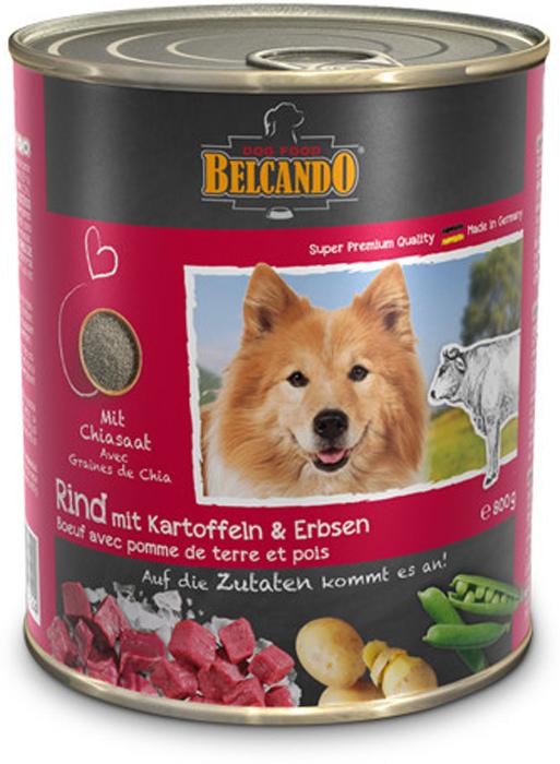 Консервы для собак Belcando говядина с картофелем и горохом, 800 г белькандо консервы с мясом и лапшой для собак belcando best quality meat with noodles 800 г