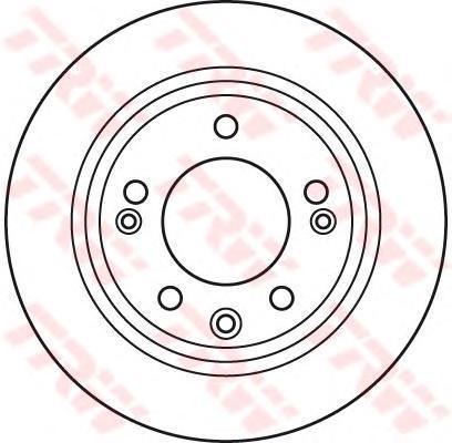 Диск тормозной Trw, 2 шт. DF6123DF6123