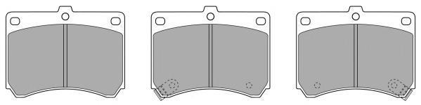 Колодки тормозные дисковые Fremax, комплект. FBP-0797FBP-0797