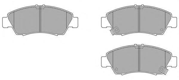 Колодки тормозные дисковые Fremax, комплект. FBP-0828FBP-0828