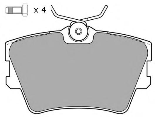 Колодки тормозные дисковые Fremax, комплект. FBP-1043FBP-1043